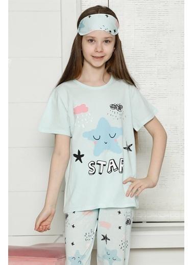 Akbeniz Çocuk Pamuk Kısa Kollu Pijama Takımı 4566 Yeşil